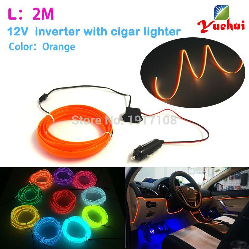 DC-12V By 10 Color Choice Car party Decor LED Thread Indoor Decals ...