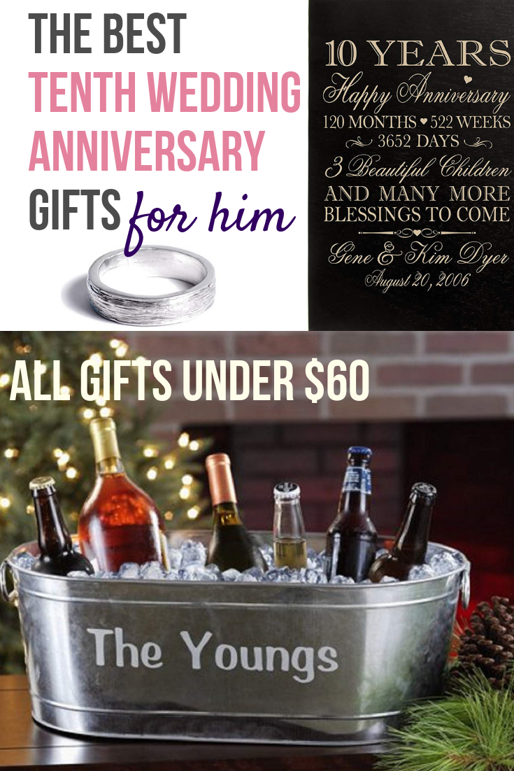 10th Anniversary Gifts for Him Under 60 10th