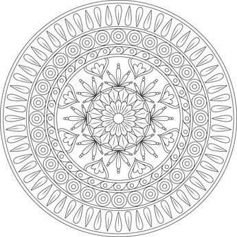Picture of Cradle Rock coloring page | Mandala coloring ...