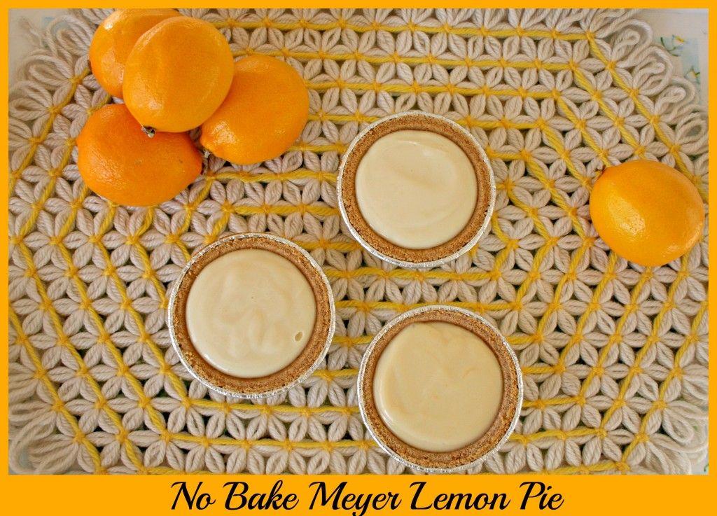 Meyer Lemon Pie (No Bake and 2 ingredients) - Eat at Home