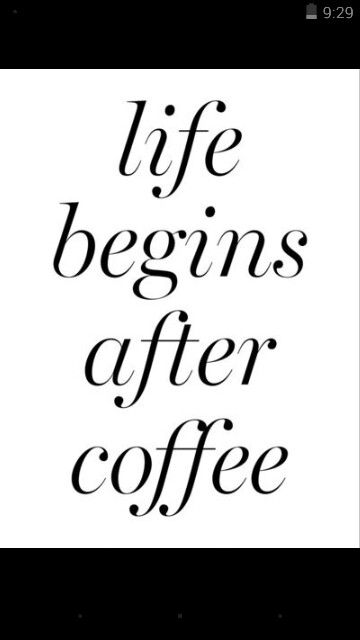 Coffee before anything!