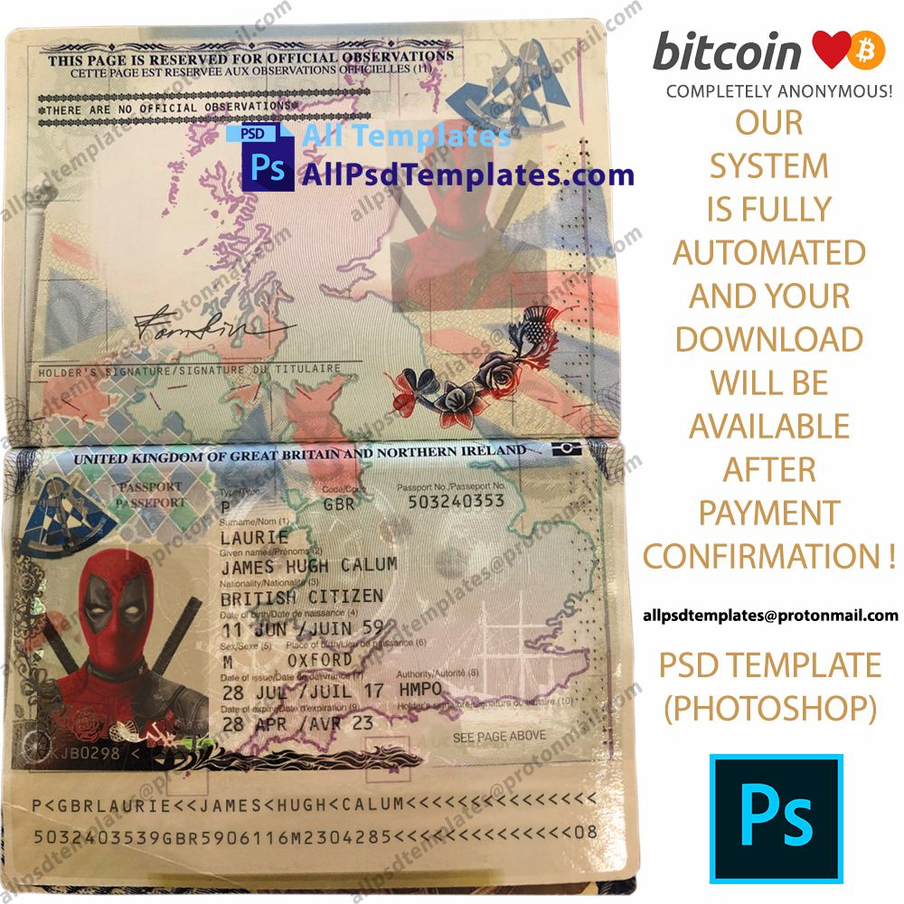 Uk Passport Holo Template In 2020 Templates Psd Templates Photoshop Template