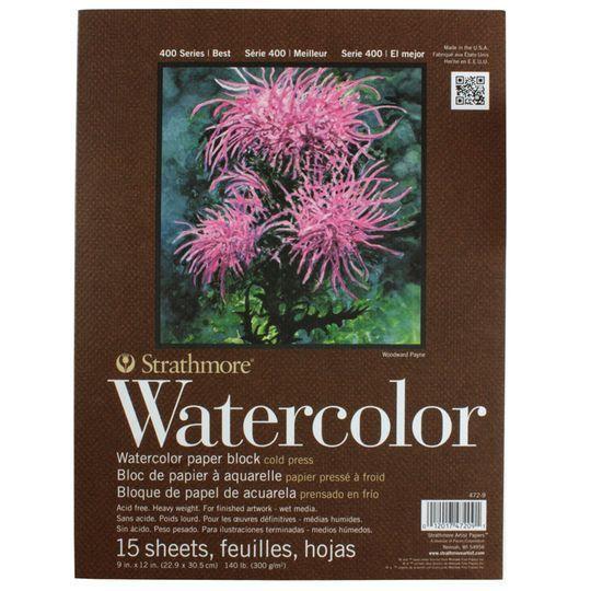 Strathmore Watercolor Block Paper Pad 9 X12 140lb Cold Press 15