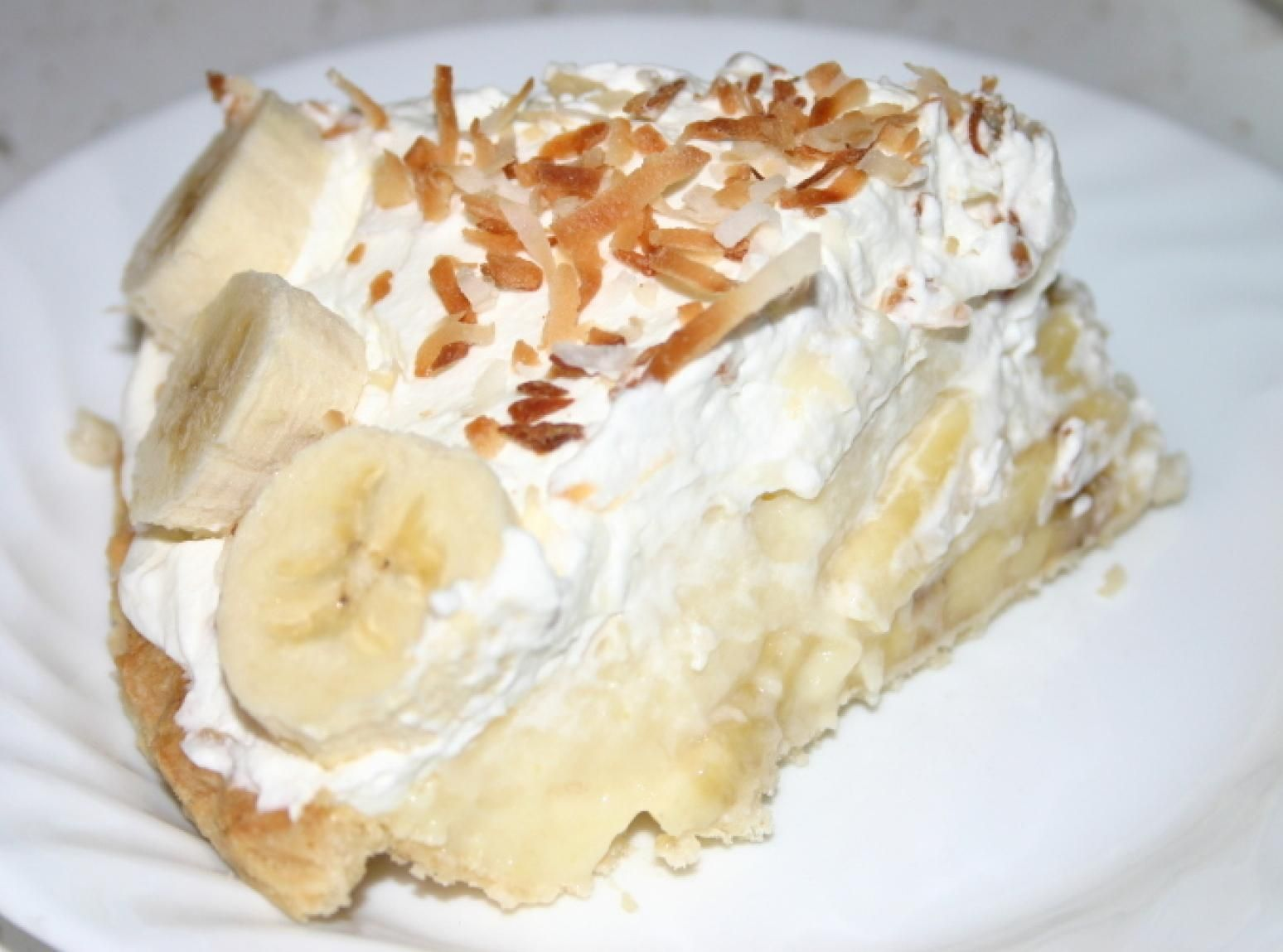 Creamy Banana Cream Pie #bananapie