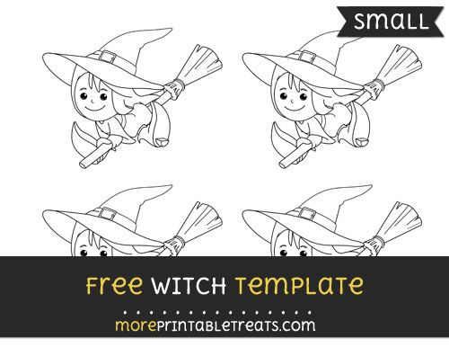 Free Witch Template - Small Halloween Printables Pinterest - halloween template