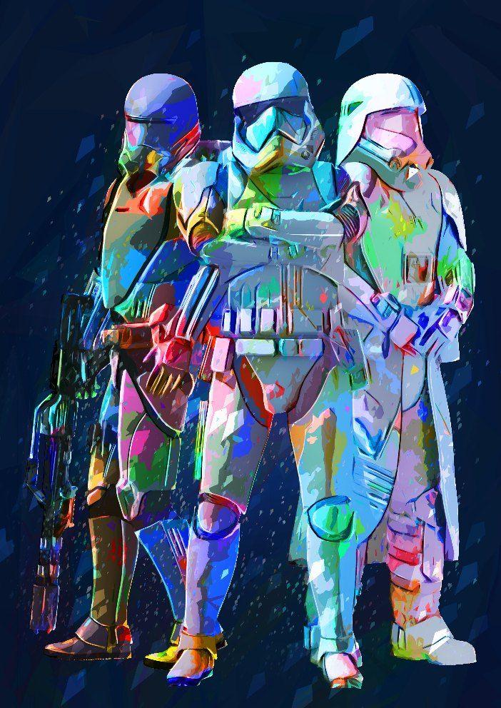 Star Wars Poster Wall Art Darth Vader Stormtrooper Art Print Star Wars Wallpaper Star Wars Background Star Wars Poster