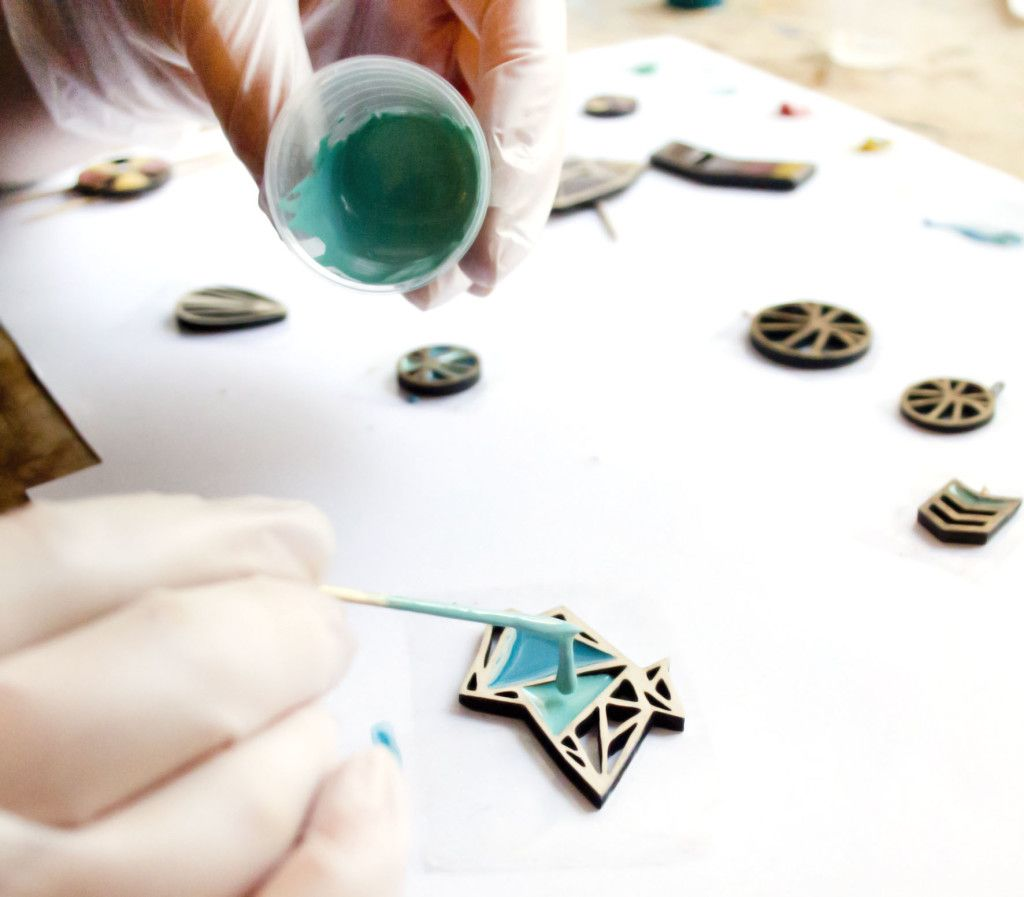Dear george making jewellery with resin wood skill and love sarah buchan from dear george makes geometric wood and resin jewellery from her studio in read our interview with sarah to find out more solutioingenieria Gallery