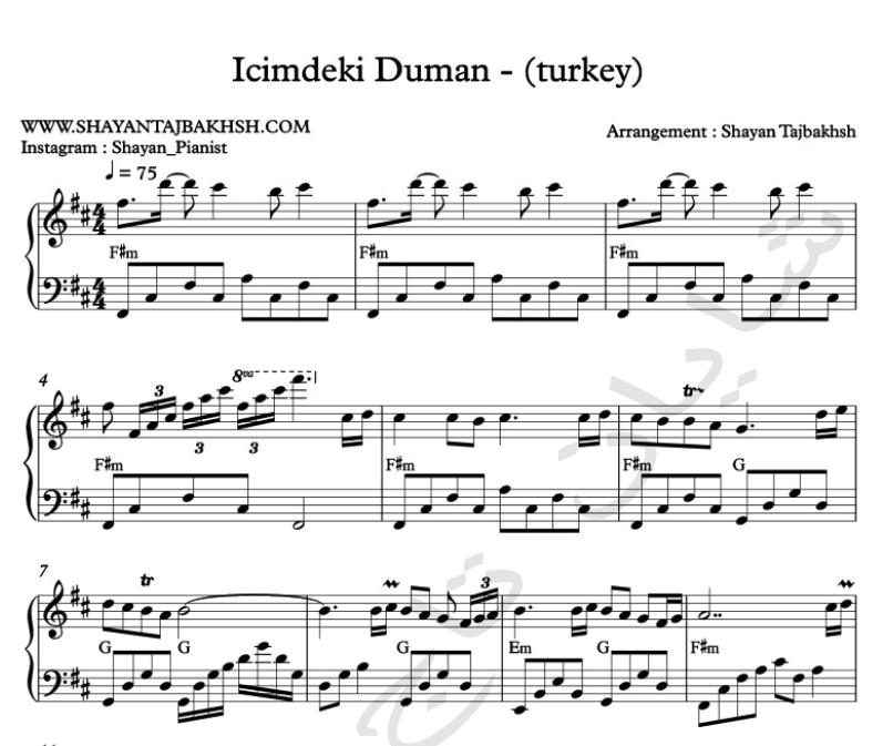 Ilyas Yalcintas Music Notes Sheet Music Notes