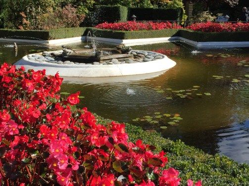 the star pool, part of the Italian Garden at Butchart Gardens