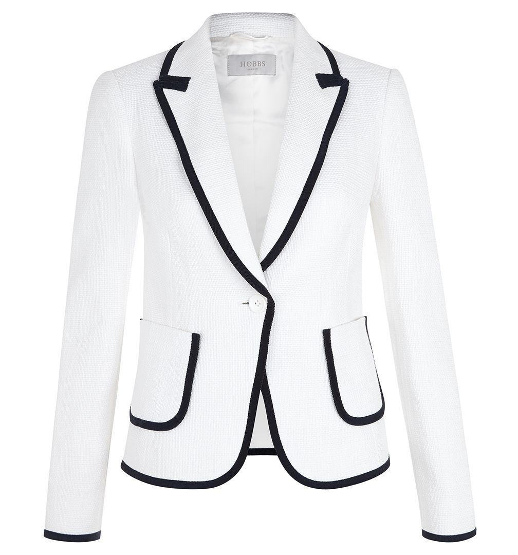 White Joanna Jacket | Casual Jackets | Coats and Jackets | Hobbs