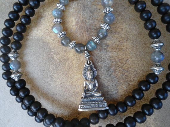 Buddhist Prayer Beads 108 bead Mala by SacredSymbolStudios on Etsy, $59.99