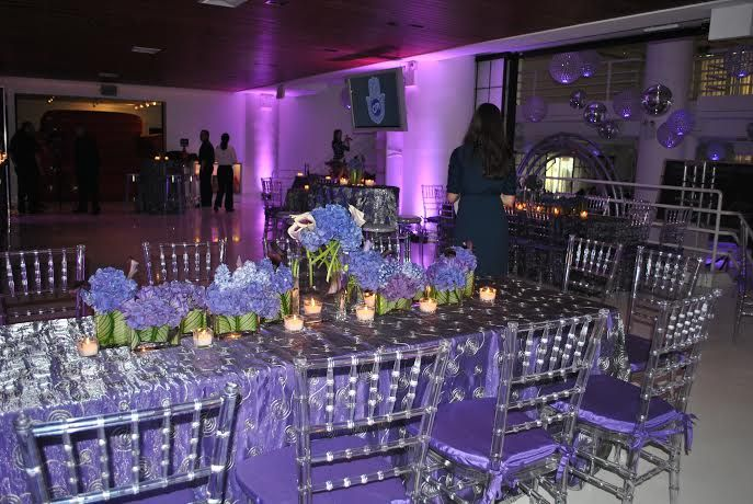 These Hyndrangeas were the perfect center pieces #mitzvah #flowers #color #inspiration #NYC #venue
