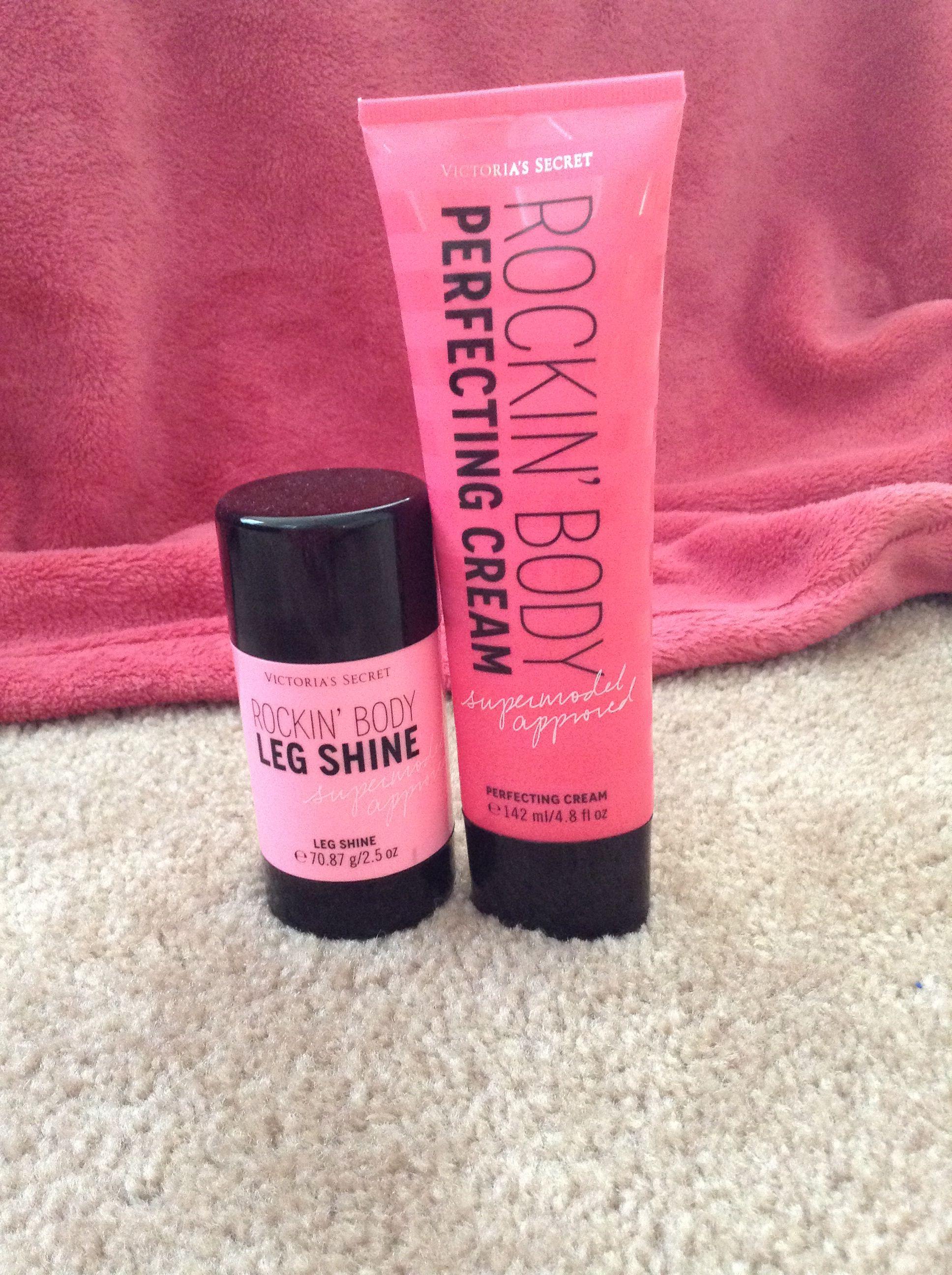 9ac10e0e071 Victoria s Secret Rockin  Body Perfecting Cream and Leg Shine. For FLAWLESS  legs. This stuff is AMAZING!!!