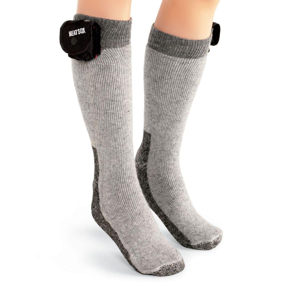 The 12 Hour Heated Socks Hammacher Schlemmer Heated Socks Socks Wearable Technology