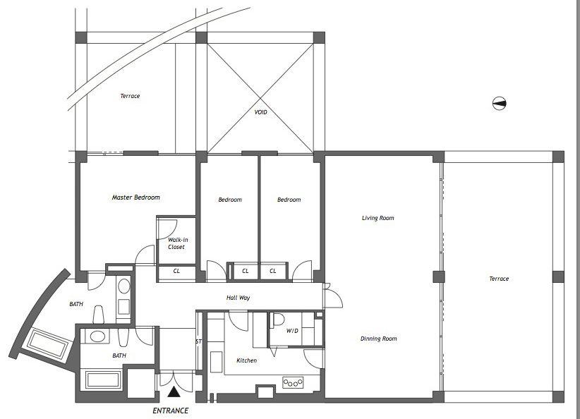Rokko Housing Ii Paramount Rokko Kobe 1302 Floor Plan Jpg 822 594 Floor Plans Tadao Ando How To Plan