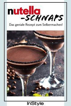 Genial: Nutella-Schnaps gibt's wirklich – das Rezept zum Selbermachen hier! #cocktaildrinks