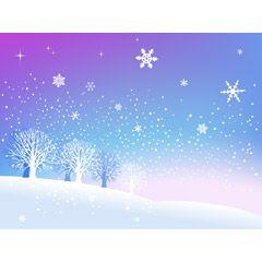フリーイラスト素材 イラスト 風景 自然 雪 雪の結晶 冬 Eps Id