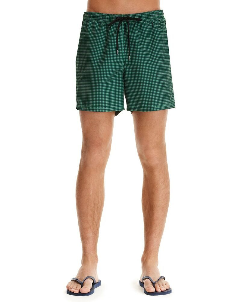 b939254fb1cdb Theory Men's Bathing Suit Green and Black Check - Size Large #fashion # clothing #shoes #accessories #mensclothing #swimwear (ebay link)