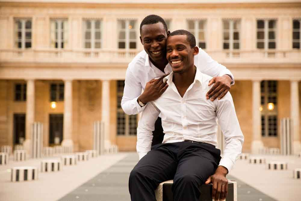 A romantic Paris photo shoot for two grooms from Chicago