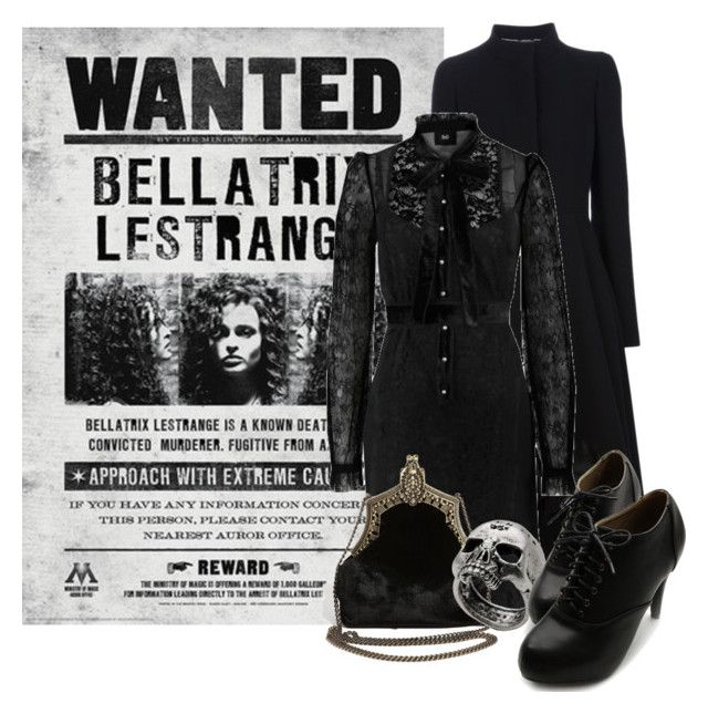"""""""Bellatrix Lestrange from Harry Potter"""" by ginger-coloured ❤ liked on Polyvore featuring Alexander McQueen, D&G, House of Harlow 1960, John Richmond, Ollio, pureblood and blacksisters"""