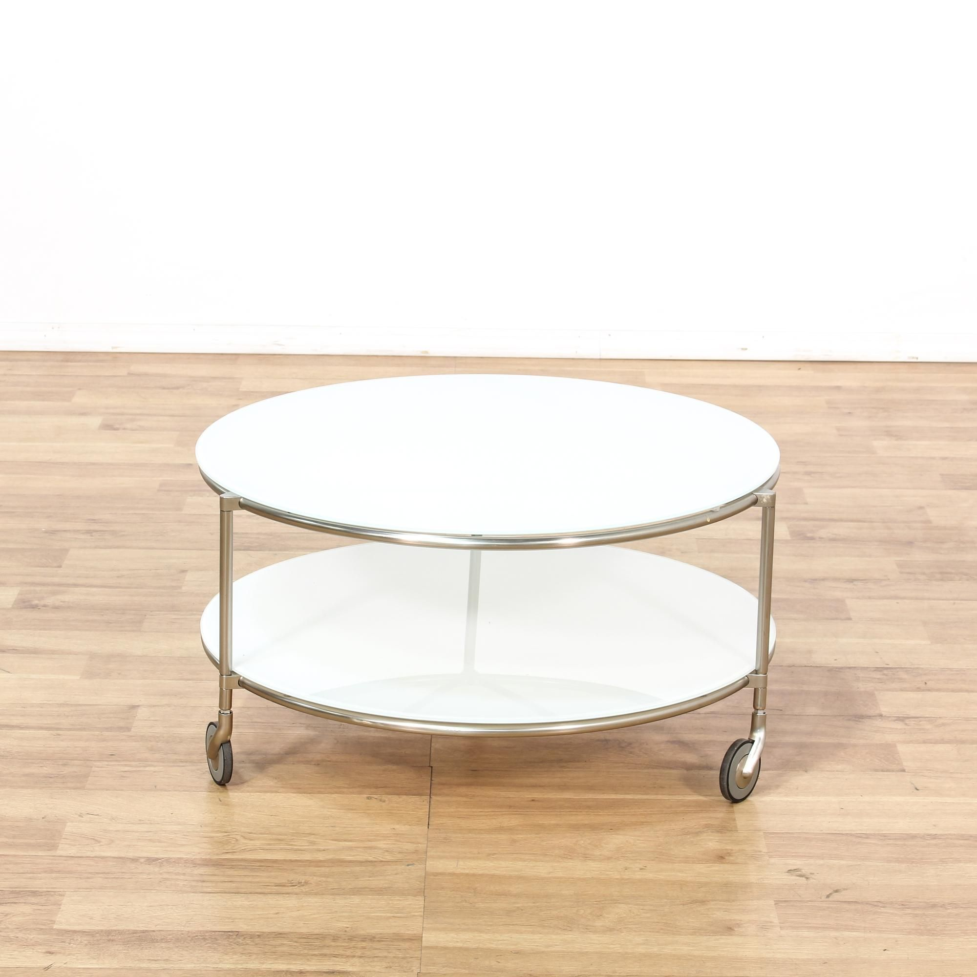 Round Modern 2 Tier Glass Table Round Glass Coffee Table Coffee