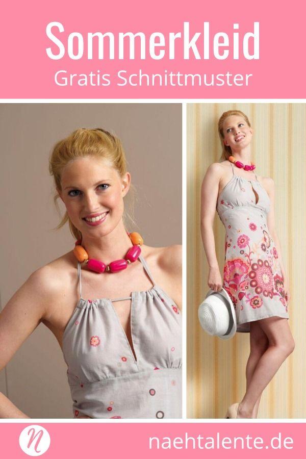 Neckholder kleid gratis schnittmuster