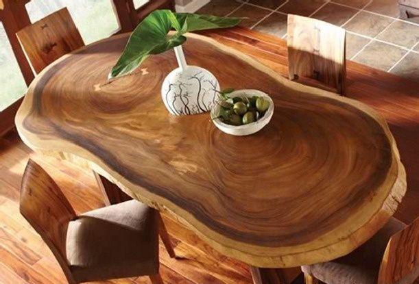 Mesas originales de tronco de abrol para tu comedor hola for Mesa de tronco