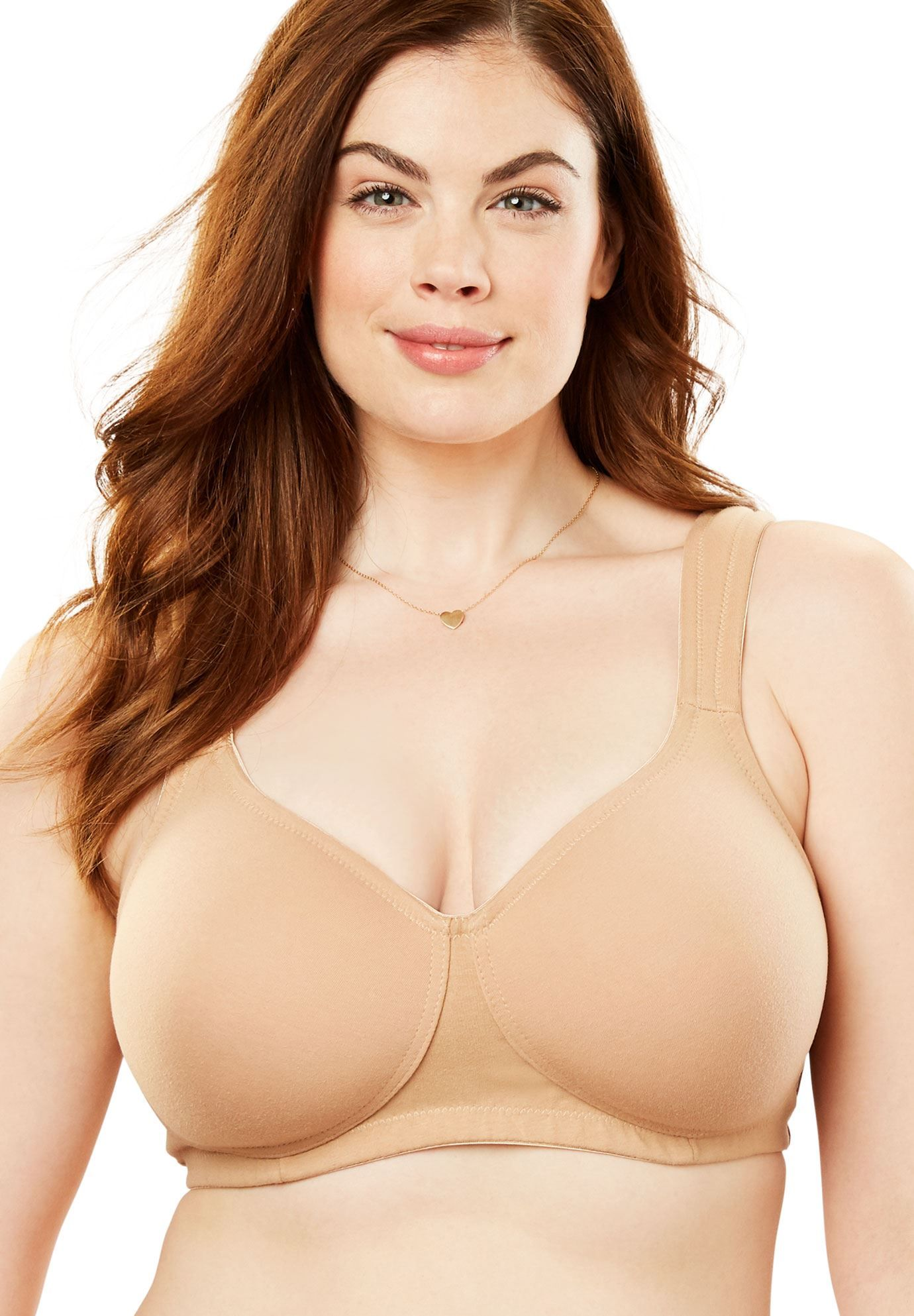 610a4b55f Wireless Cotton T-Shirt Bra by Comfort Choice - Women s Plus Size Clothing