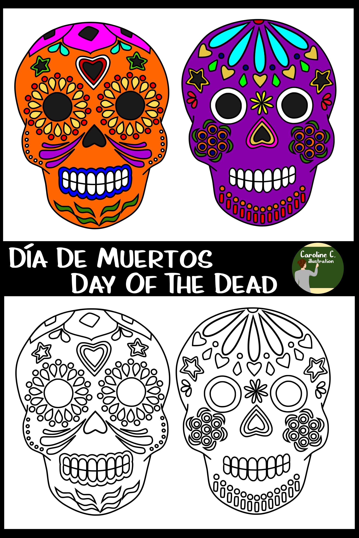 Free Day Of The Dead Clip Art Clip Art Dia De Muertos Day Of The Dead Skull