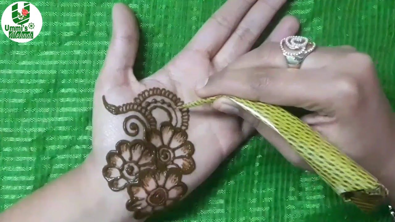 New Year mehndi design for front hand try