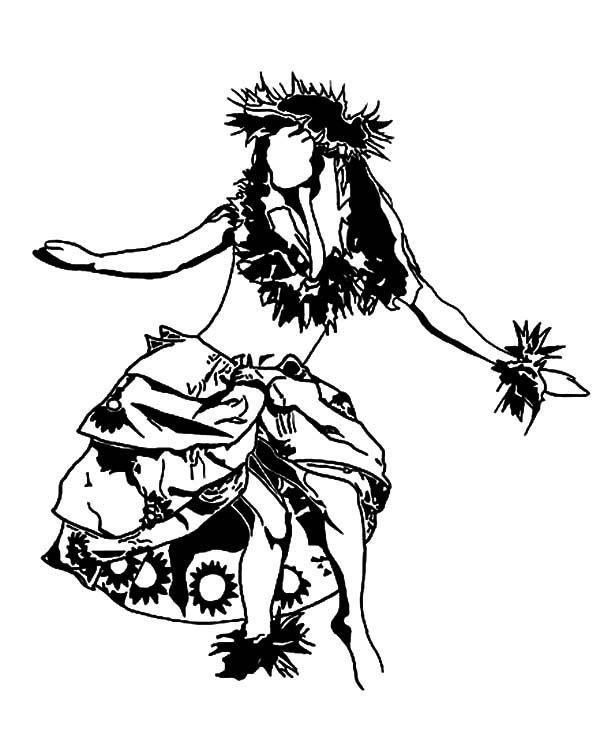 how to draw a hawaiian girl