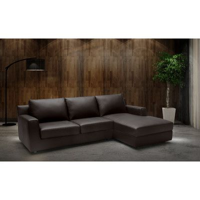 Brayden Studio Blandon Leather Sectional Products Sectional