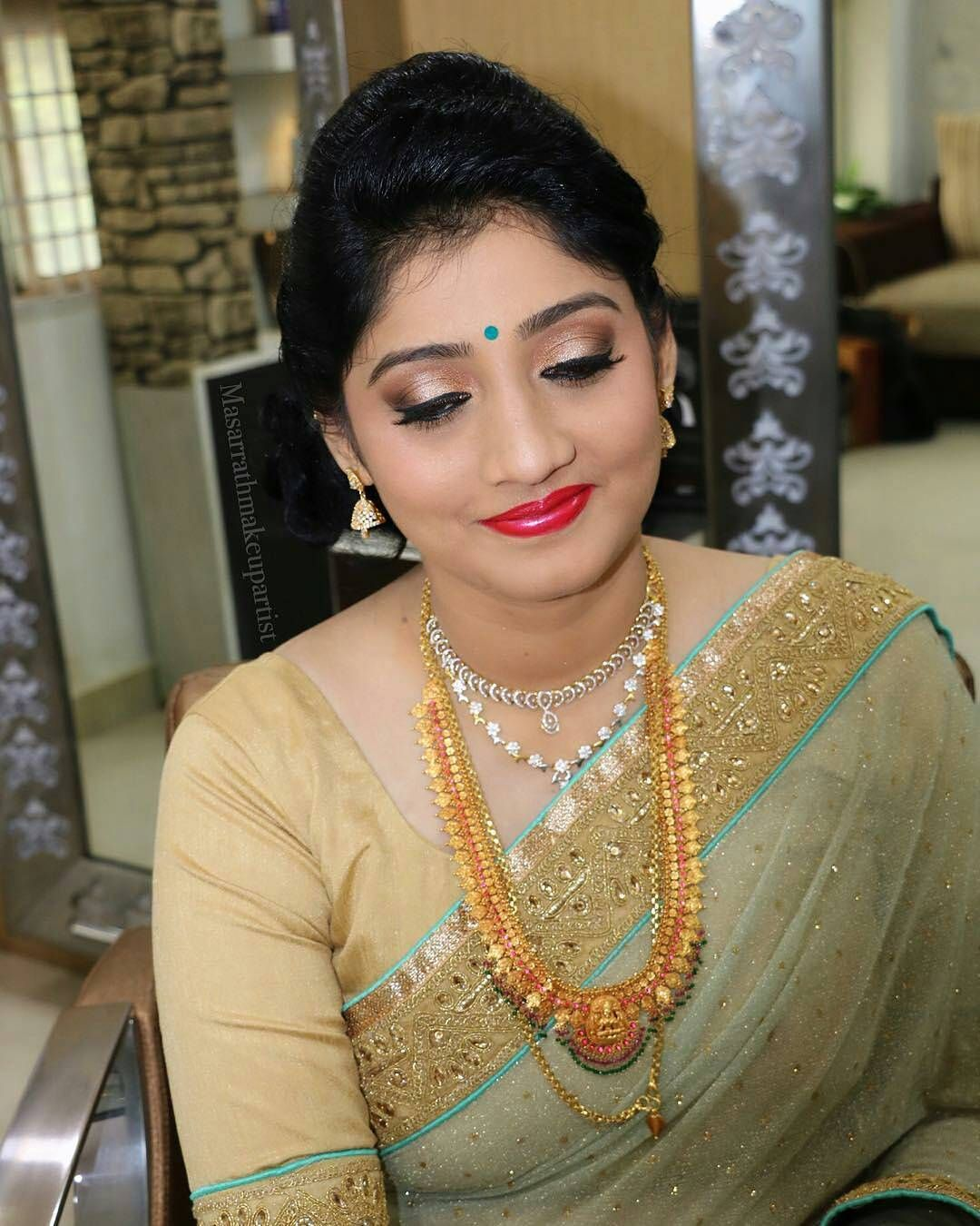 """South Indian Bride Fashion on Instagram: """"Beautiful South Indian ..."""