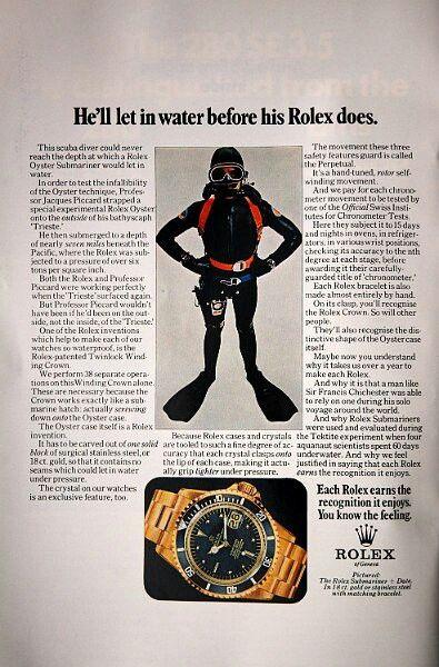 Rolex ad. Submarina 1680/8