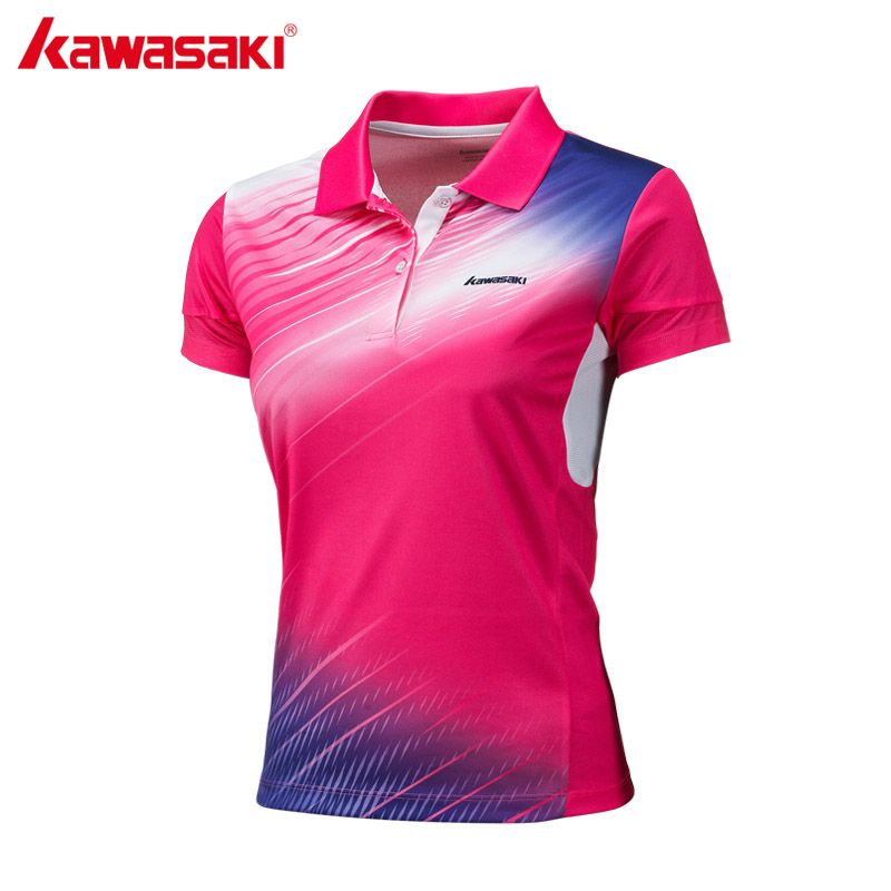 Kawasaki Brand Women Polyester Polo Shirt Short Sleeve Badminton Table Tennis Running Sports T Shirt St 172012 Sports Polo Shirts Sport T Shirt Polo Shirt