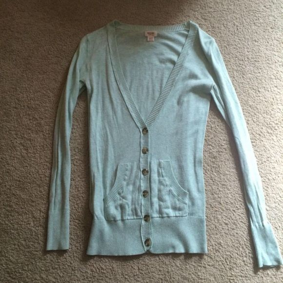 Mint Cardigan Mint color cardigan. Only worn twice, amazing condition. Sweaters Cardigans