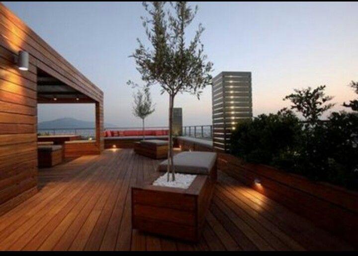 Terraza vestida de madera pisos Pinterest