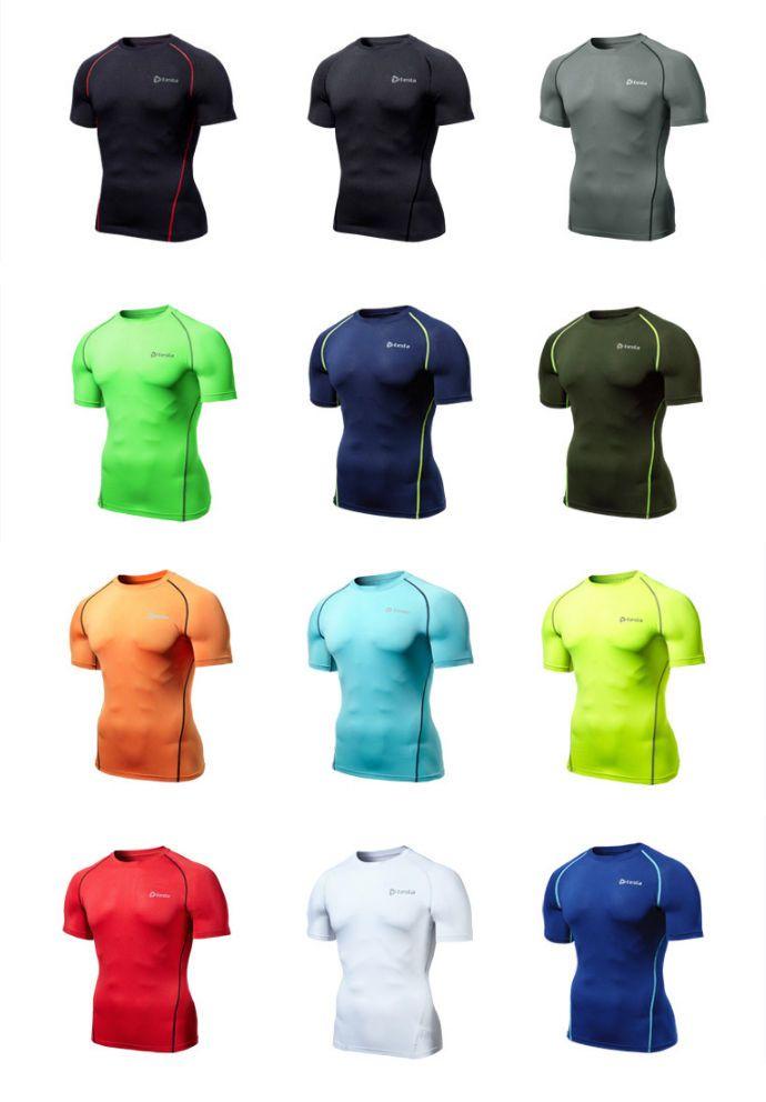 MUB03 Base Under Layer Tee Shirt Tight T-Shirt Tesla Sport Compression S//S Top