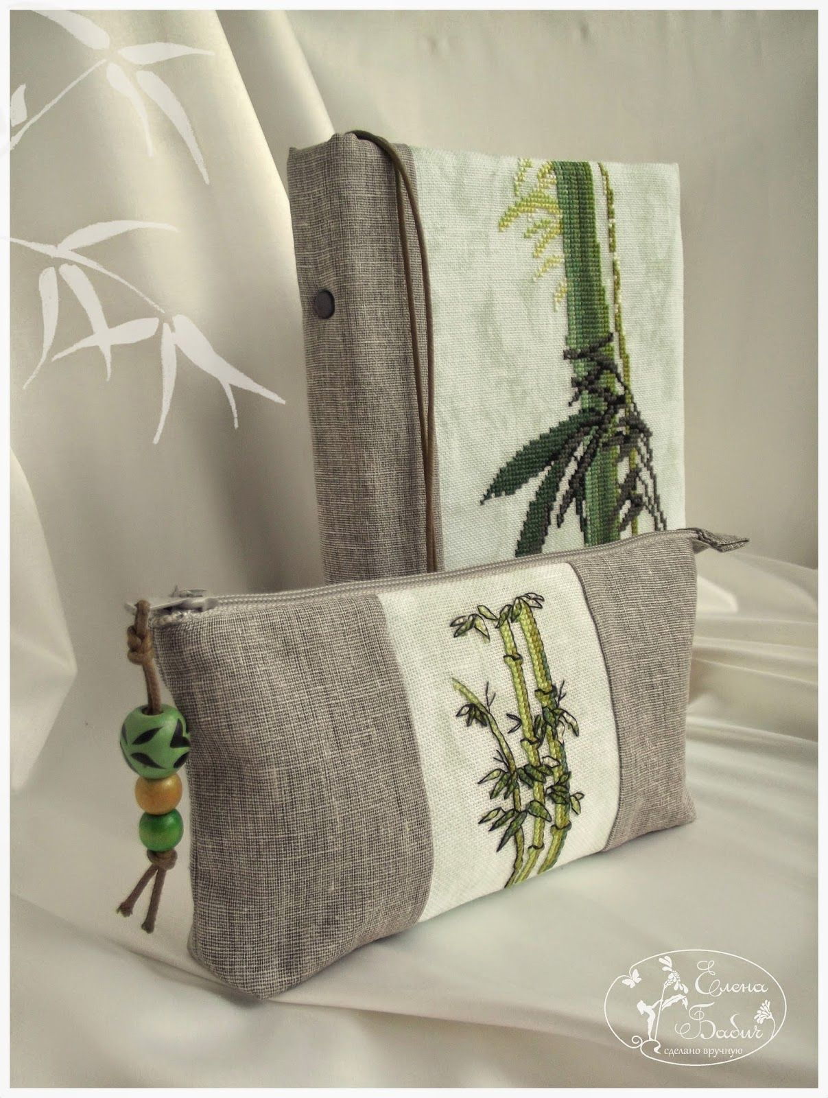 111f43a454ff блокнот и косметичка-пенал бамбук | Handmade bag | Пеналы ...