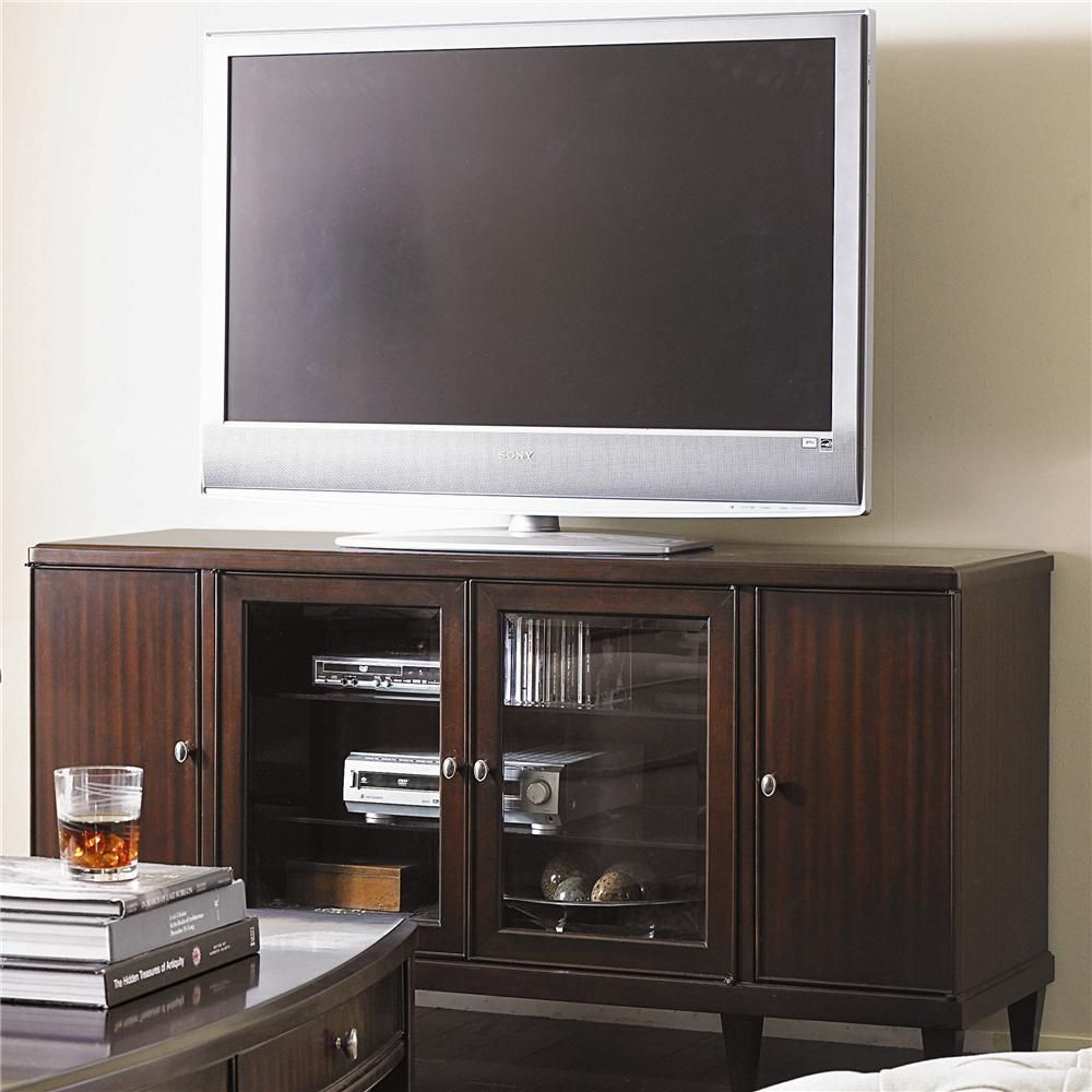 Westwood Contemporary Entertainment Console Base With Doors By Bernhardt   Baeru0027s  Furniture   TV Or Computer