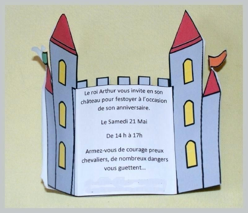 Incroyable Genial Texte Invitation Anniversaire Chevalier Ou