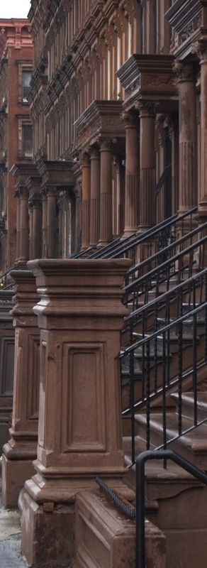 Beautiful brownstones in New York City