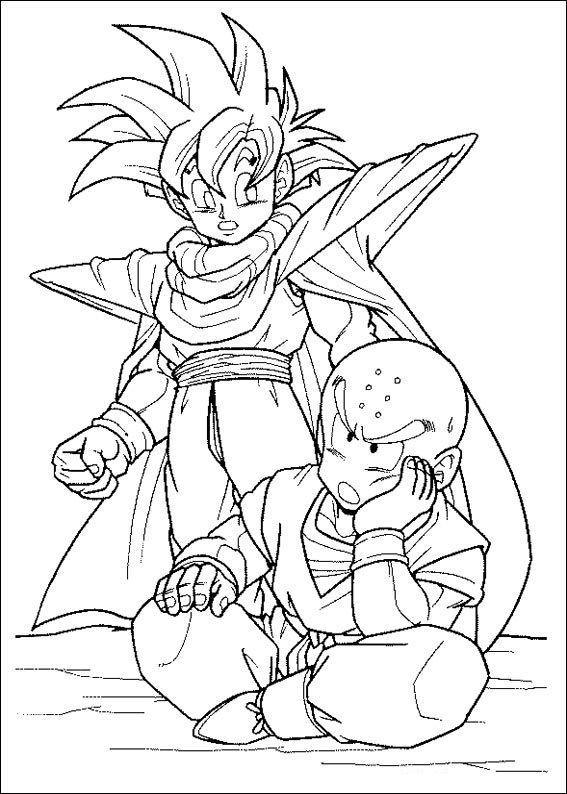 Dibujos Para Colorear De Dragon Ball Z 52 Dibujo De Goku Dibujos Personajes De Dragon Ball