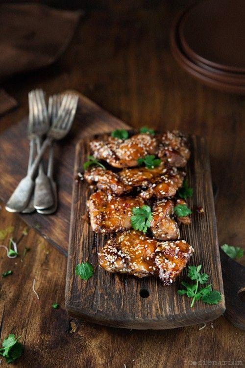 Sticky Asian Style Chicken Thighs Recipe Foodienarium Asian