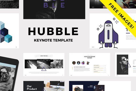 HUBBLE - Modern Keynote Template   Pinterest   Keynote and Template