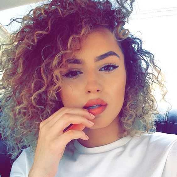 Cute Curly Hairstyles For Short Hair Mixed Curly Hair Curly Hair Styles Curly Hair Styles Naturally