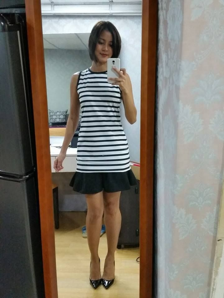 [Uber OOTD:Jul14-2014] dress from Suite Blanco, skirt from Stradivarius