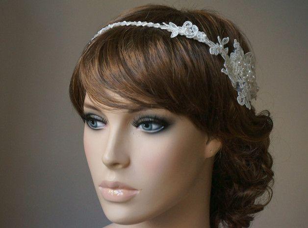 Einzigartiger Braut Haarband An Der Seite Schmucken Das Band Eine