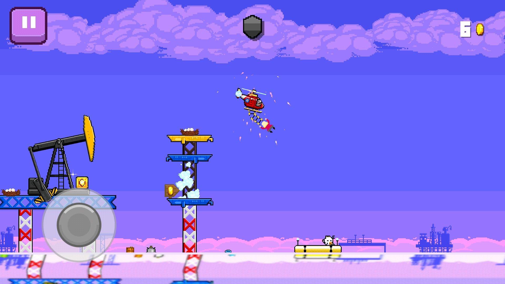 Choppy by Parta games, side scrolling pixelart helicopter