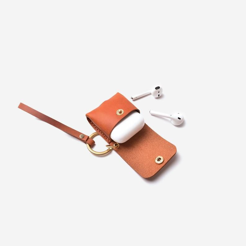 Pdf Pattern Leather Airpods Case Template In 2021 Leather Small Leather Wallet Leather Diy